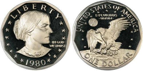 1 Доллар США (1776 - ) Никель/Медь Susan Brownell Anthony (1820-1906)