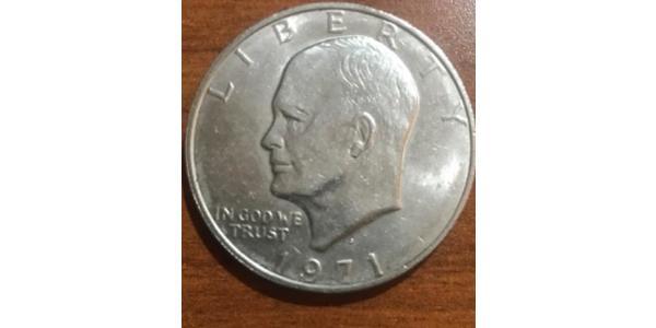1 Доллар США (1776 - ) Никель/Медь Дуайт Дэвид Эйзенхауэр (1890-1969)