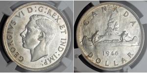 1 Доллар Канада Серебро Георг VI (1895-1952)