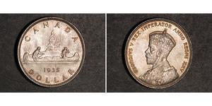 1 Доллар Канада Серебро Георг V (1865-1936)