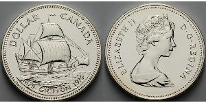 1 Доллар Канада Серебро Елизавета II (1926-)