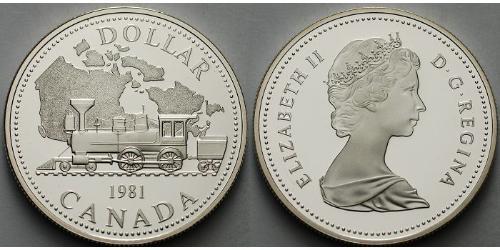 1 Доллар Канада Серебро