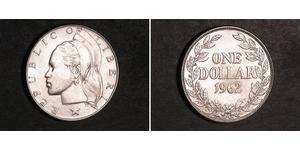 1 Доллар Либерия Серебро