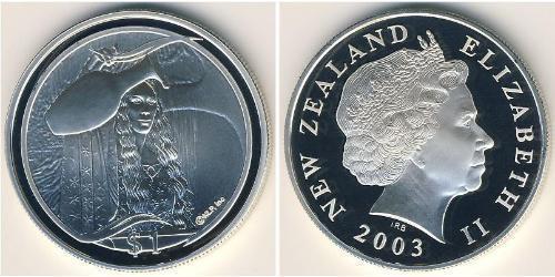 1 Доллар Новая Зеландия Серебро