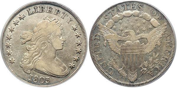 1 Доллар США (1776 - ) Серебро Anne Willing Bingham (1764-1801)