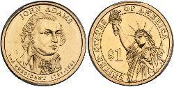 1 Доллар США (1776 - ) Цинк/Медь Джон Адамс (1735-1826)