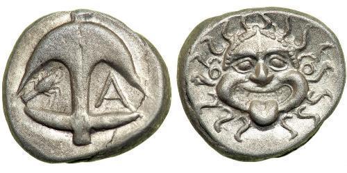 1 Драхма Аполлония Иллирийская Серебро