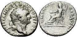 1 Драхма Римська імперія (27BC-395) Срібло Доміціан (51-96)