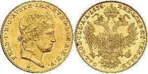 1 Дукат Австрийская империя (1804-1867) Золото Ferdinand I of Austria (1793 - 1875)