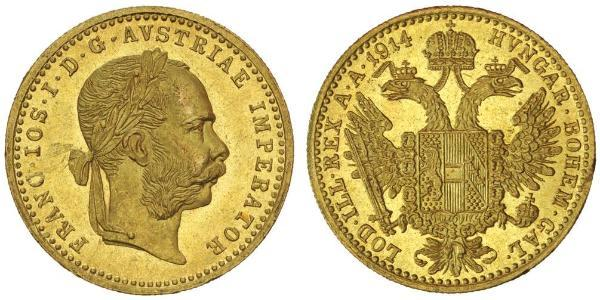 1 Дукат Австро-Угорщина (1867-1918) Золото Франц Иосиф I (1830 - 1916)