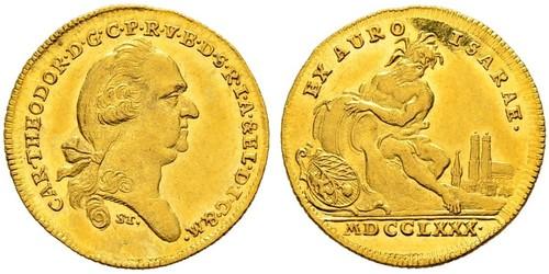 1 Дукат Баварія (курфюрство) (1623 - 1806) Золото