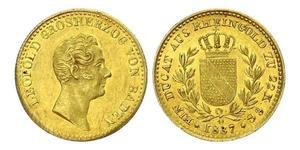 1 Дукат Велике герцогство Баден (1806-1918) Золото Leopold, Grand Duke of Baden (1790 – 1852)