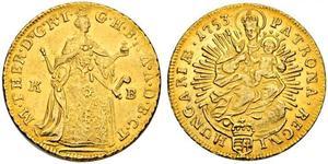 1 Дукат Венгрия Золото Maria Theresa of Austria (1717 - 1780)