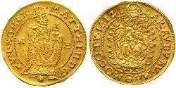 1 Дукат Габсбургская империя (1526-1804) Золото Matthias, Holy Roman Emperor (1557 - 1619)