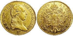 1 Дукат Габсбургская империя (1526-1804) Золото Joseph II, Holy Roman Emperor  (1741 - 1790)