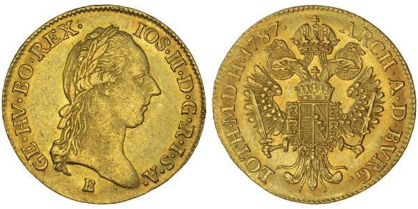 1 Дукат Габсбурзька імперія (1526-1804) Золото Joseph II, Holy Roman Emperor  (1741 - 1790)