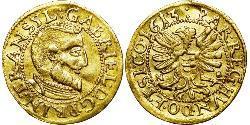 1 Дукат Княжество Трансильвания (1571-1711) Золото Gabriel Báthory (1589 – 1613)
