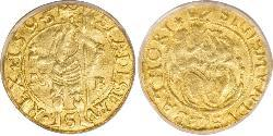 1 Дукат Князівство Трансильванія (1571-1711) Золото Sigismund Báthory,  prince of Transylvania (1572 -1613)