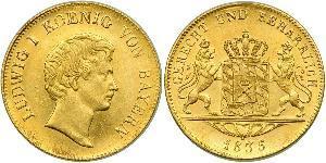 1 Дукат Королевство Бавария (1806 - 1918) Золото Людвиг I (король Баварии)(1786 – 1868)