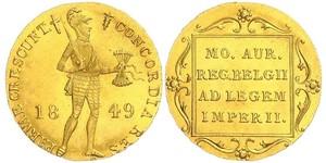 1 Дукат Королевство Нидерланды (1815 - ) Золото