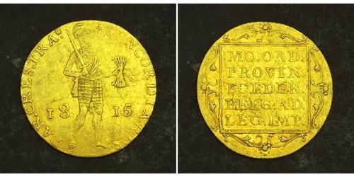 1 Дукат Королевство Нидерланды (1815 - ) Золото William I of the Netherlands (1772 - 1843)