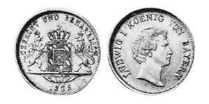 1 Дукат Королівство Баварія (1806 - 1918) Золото Людвиг I (король Баварії)(1786 – 1868)