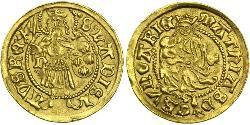1 Дукат Королiвство Угорщина (1000-1918) Золото Matthias Corvinus of Hungary  (1443 -1490)