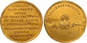 1 Дукат Речь Посполитая (1569-1795) Золото August ll Mocny