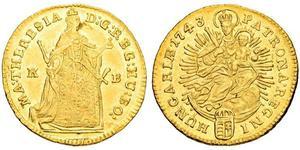 1 Дукат Угорщина Золото Maria Theresa of Austria (1717 - 1780)