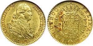 1 Ескудо Іспанська Імперія (1700 - 1808) Золото Карл IV король Іспанії  (1748-1819)