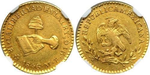 1 Ескудо Centralist Republic of Mexico (1835 - 1846) Золото