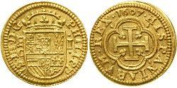 1 Ескудо Habsburg Spain (1506 - 1700) Золото Філіп III король Іспанії (1578-1621)