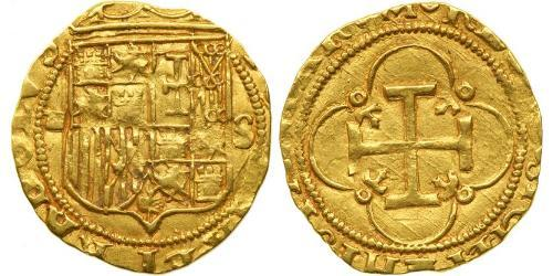 1 Ескудо Habsburg Spain (1506 - 1700) Золото Карл V імператор Священної Римської імперії (1500-1558)