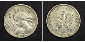 1 Злотий Польська республіка (1918 - 1939) Срібло