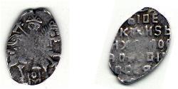 1 Копейка Царство Русское (1547-1721) Серебро Михаил Фёдорович Романов (1596 - 1645)