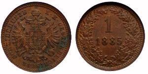 1 Крейцер Австрийская империя (1804-1867) Медь