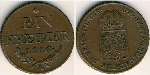 1 Крейцер Австрійська імперія (1804-1867) Мідь Francis II, Holy Roman Emperor (1768 - 1835)