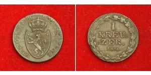 1 Крейцер Герцогство Нассау (1806 - 1866) Мідь