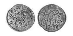 1 Крейцер Ансбах (княжество) (1398–1792) Серебро John Frederick, Margrave of Brandenburg-Ansbach (1654 – 1686)