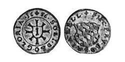 1 Крейцер Бавария (курфюршество) (1623 - 1806) Серебро Фердинанд Мария (курфюрст Баварии)(1636 – 1679)