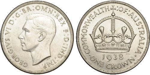 1 Крона(английская) Австралия (1788 - 1939) Серебро Георг VI (1895-1952)