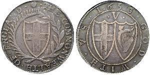 1 Крона(английская) Английская республика (1649-1660) Серебро