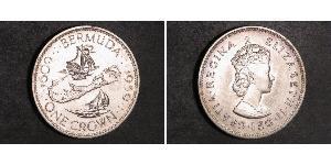 1 Крона(английская) Бермудские Острова Серебро Елизавета II (1926-)