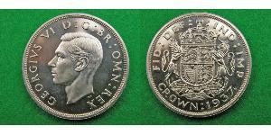 1 Крона(английская) Великобритания (1922-) Серебро Георг VI (1895-1952)