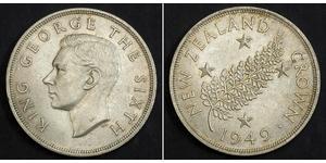 1 Крона(английская) Новая Зеландия Серебро Георг VI (1895-1952)