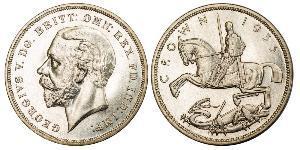 1 Крона(английская) Соединённое королевство Великобритании и Ирландии (1801-1922) Серебро Георг V (1865-1936)