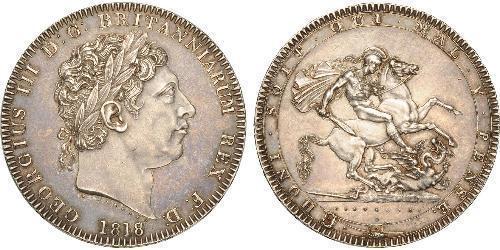 1 Крона(английская) Соединённое королевство Великобритании и Ирландии (1801-1922) Серебро Георг III (1738-1820)