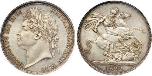 1 Крона(английская) Соединённое королевство Великобритании и Ирландии (1801-1922) Серебро Георг IV (1762-1830)