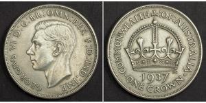 1 Крона(англійська) Австралія (1788 - 1939) Срібло Георг VI (1895-1952)