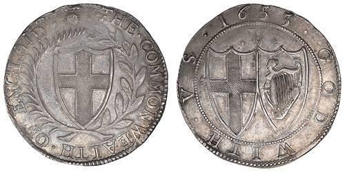 1 Крона(англійська) Англійська співдружність (1649-1660) Срібло